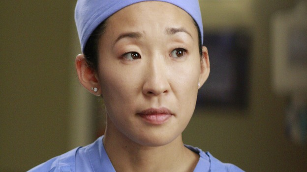 "GREY'S ANATOMY - ""Dream a Little Dream of Me"" - On the two-hour season premiere of ""Grey's Anatomy,"" Meredith and Derek learn that ""happily ever after"" isn't easy, a military doctor who brings in a trauma patient catches Cristina's eye, and the Chief and his staff reel at the news that Seattle Grace is no longer nationally ranked as a top-tier teaching hospital, on ""Grey's Anatomy,"" THURSDAY, SEPTEMBER 25 (9:00-11:00 p.m., ET) on the ABC Television Network. (ABC/RON TOM)SANDRA OH"