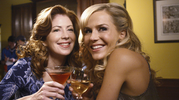 "DESPERATE HOUSEWIVES - ""Lovely"" - Susan causes quite a stir when she invites a former stripper into her home on ABC's ""Desperate Housewives,"" SUNDAY, FEBRUARY 21 (9:00-10:01 p.m., ET). Former exotic dancer Robin will have a profound effect on Susan's friends -- with three teenage boys at home, Lynette will keep a watchful eye; Bree picks up a few tricks to engage Orson; Gaby looks for help with troublesome niece Ana; and Katherine will find a friendly companion. (ABC/RON TOM)DANA DELANY, JULIE BENZ"