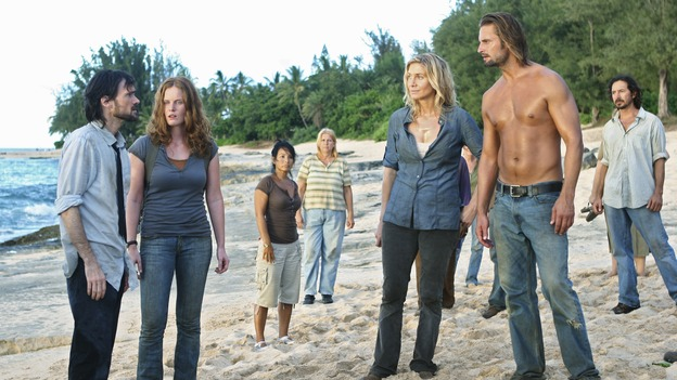 "LOST - Awarded the 2005 Emmy and 2006 Golden Globe for Best Drama Series, ""Lost"" returns for its fifth season of action-packed mystery and adventure -- that will continue to bring out the very best and the very worst in the people who are lost, WEDNESDAY, JANUARY 21 (9:00-11:00 p.m., ET) on the ABC Television Network. In the first part of the season premiere, entitled ""Because You Left,"" the remaining island survivors start to feel the effects of the aftermath of moving the island, and Jack and Ben begin their quest to reunite the Oceanic 6 in order to return to the island with Locke's body in an attempt to save their former fellow castaways. (ABC/MARIO PEREZ)JEREMY DAVIES, REBECCA MADER, ELIZABETH MITCHELL, JOSH HOLLOWAY"