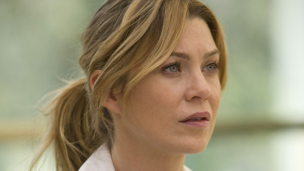"GREY'S ANATOMY - ""Freedom"" - On the two-hour season finale of ""Grey's Anatomy,"" Meredith and Derek have one last shot at a successful outcome in their clinical trial, as the other surgeons work together to free a boy from a hardening block of cement. Meanwhile, Izzie helps Alex care for an ailing Rebecca, and Lexie discovers critical information about George's intern status, on ""Grey's Anatomy,"" THURSDAY, MAY 22 (9:00-11:00 p.m., ET) on the ABC Television Network. (ABC/RANDY HOLMES)ELLEN POMPEO"