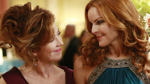 "DESPERATE HOUSEWIVES - ""In Buddy's Eyes"" - Bree and Katherine join forces to plan the Founders Day Ball, on Desperate Housewives,"" SUNDAY, APRIL 20 (9:00-10:02 p.m., ET) on the ABC Television Network. (ABC/RON TOM) DANA DELANY, MARCIA CROSS"
