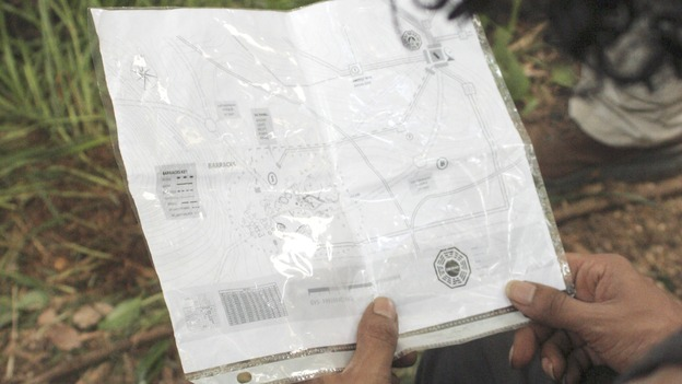"LOST - ""Par Avion"" - Sayid examines the map he took from the Flame station, on ""Lost,"" WEDNESDAY, MARCH 14 (10:00-11:00 p.m., ET), on the ABC Television Network.  (ABC/MARIO PEREZ) MAP"
