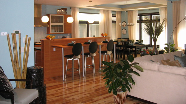 "EXTREME MAKEOVER HOME EDITION - ""Bliven Family,"" - Living Room and Kitchen, on ""Extreme Makeover Home Edition,"" Sunday, October 15th on the ABC Television Network."