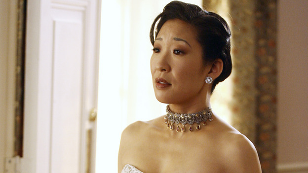 "GREY'S ANATOMY - ""Didn't We Almost Have It All"" - Cristina and Burke's wedding day arrives - along with the interns' first exam results - and a successor to the Chief is named, as Callie and George make a big decision about their relationship, on the Season Finale of ""Grey's Anatomy,"" THURSDAY, MAY 17 (9:00-10:07 p.m., ET) on the ABC Television Network. (ABC/SCOTT GARFIELD)SANDRA OH"