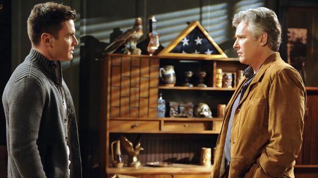 Aiden Turner as Aidan Devane and Michael E. Knight as Tad Martin