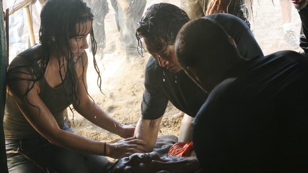 "LOST - ""The Long Con"" - (ABC/MARIO PEREZ)EVANGELINE LILLY, YUNJIN KIM, DANIEL DAE KIM, MATTHEW FOX"