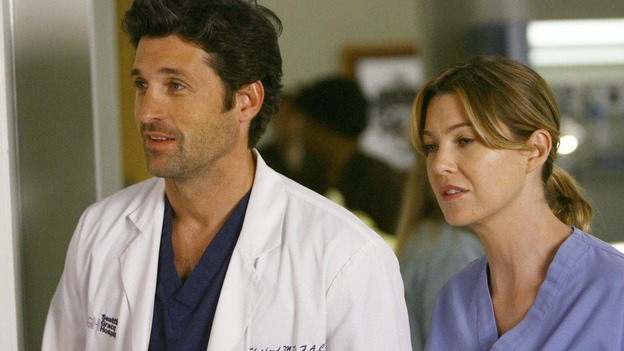 "GREY'S ANATOMY - ""Dream a Little Dream of Me"" - Meredith is thinking of asking Derek to move in with her, on ""Grey's Anatomy,"" THURSDAY, SEPTEMBER 25 (9:00-11:00 p.m., ET) on the ABC Television Network. (ABC/SCOTT GARFIELD) PATRICK DEMPSEY, ELLEN POMPEO"