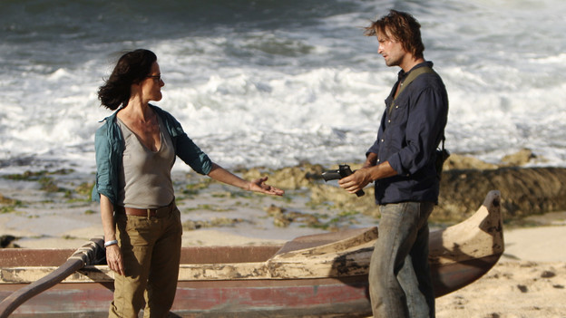 "LOST - ""Recon"" - Locke tasks Sawyer with a mission, on ""Lost,"" TUESDAY, MARCH 23 (9:00-10:00 p.m., ET) on the ABC Television Network.  (ABC/MARIO PEREZ)SHEILA KELLEY, JOSH HOLLOWAY"