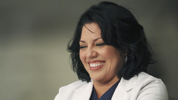 "GREY'S ANATOMY - ""Disarm"" - News of the incoming mass causalities after a gunman opens fire at a local college hits the staff hard when they must spring into action, even while their own wounds are still fresh; and Arizona does not receive a warm welcome home at the hospital, on ""Grey's Anatomy,"" THURSDAY, JANUARY 6 (9:00-10:01 p.m., ET) on the ABC Television Network. (ABC/ADAM LARKEY)SARA RAMIREZ"