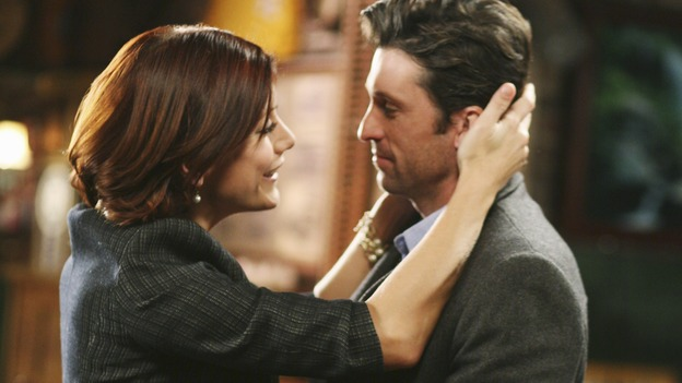 "GREY'S ANATOMY - ""Before and After"" - Addison embraces Derek after he saved the life of her brother, Archer, on ""Grey's Anatomy,"" THURSDAY, FEBRUARY 12 (9:00-10:02 p.m., ET) on the ABC Television Network. (ABC/RICHARD CARTWRIGHT) KATE WALSH, PATRICK DEMPSEY"