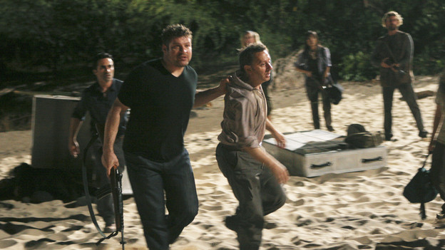 "LOST - ""LA X"" - ""Lost"" returns for its final season of action-packed mystery and adventure -- that will continue to bring out the very best and the very worst in the people who are lost -- on the season premiere of ""Lost,"" TUESDAY, FEBRUARY 2 (9:00-11:00 p.m., ET) on the ABC Television Network. On the season premiere episode, ""LA X"" Parts 1 & 2, the aftermath from Juliet's detonation of the hydrogen bomb is revealed. (ABC/MARIO PEREZ)NESTOR CARBONELL, BRAD WILLIAM HENKE, MICHAEL EMERSON"