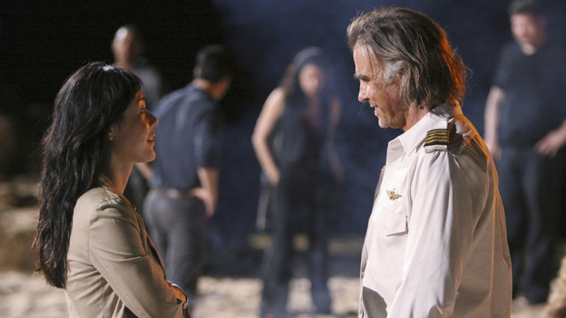 LOST - &quot;LA X&quot; - &quot;Lost&quot; returns for its final season of action-packed mystery and adventure -- that will continue to bring out the very best and the very worst in the people who are lost -- on the season premiere of &quot;Lost,&quot; TUESDAY, FEBRUARY 2 (9:00-11:00 p.m., ET) on the ABC Television Network. On the season premiere episode, &quot;LA X&quot; Parts 1 &amp; 2, the aftermath from Juliet's detonation of the hydrogen bomb is revealed. (ABC/MARIO PEREZ)YUNJIN KIM, JEFF FAHEY