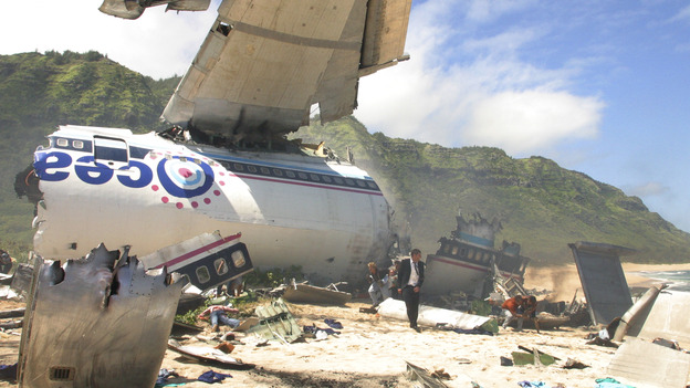 Crash Course in SurvivalOceanic Airlines Flight 815 is ripped apart in midair. The plane crash lands on a deserted island. The flight from Sydney to L.A. was a thousand miles off course. No one knows where they are, including the 48 survivors.