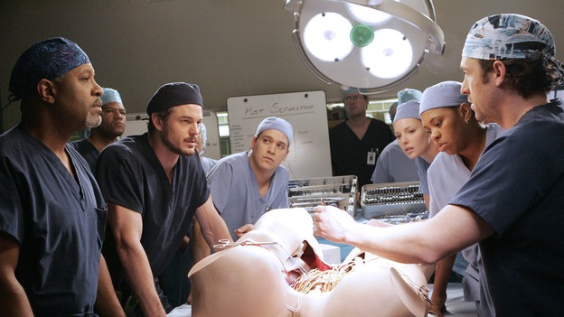 GREY'S ANATOMY - &quot;Don't Stand So Close to Me&quot; - Recent events strain Burke and Cristina's relationship, Meredith's half-sister, Molly, is admitted to the hospital, and Mark and Derek must work together when two close-knit brothers seek medical help, on &quot;Grey's Anatomy,&quot; THURSDAY, NOVEMBER 30 (9:00-10:01 p.m., ET) on the ABC Television Network. (ABC/VIVIAN ZINK)JAMES PICKENS, JR., ERIC DANE, T.R. KNIGHT, KATHERINE HEIGL, CHANDRA WILSON, PATRICK DEMPSEY