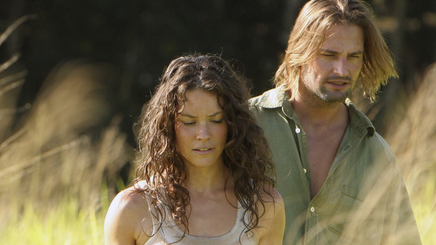 "LOST - ""Through the Looking Glass"" - Jack and the castaways begin their efforts to make contact with Naomi's rescue ship, on the season finale of ""Lost,"" WEDNESDAY, MAY 23 (9:00-11:00 p.m., ET), on the ABC Television Network. (ABC/MARIO PEREZ)EVANGELINE LILLY, JOSH HOLLOWAY"