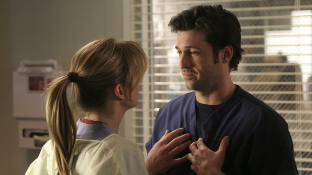 "102004_9923 -- COMPLICATIONS - ""WINNING A BATTLE, LOOSING A WAR"" (ABC/MICHAEL ANSELL)ELLEN POMPEO, PATRICK DEMPSEY"
