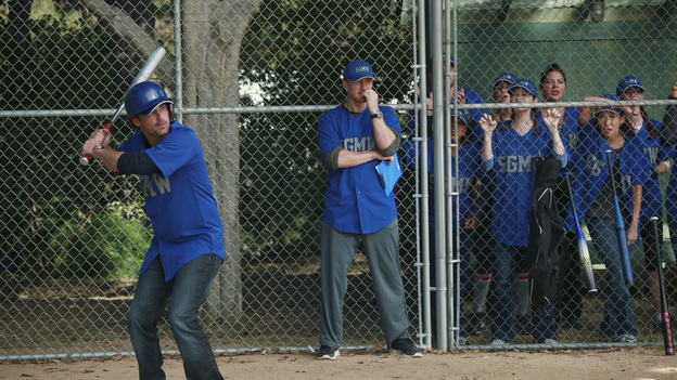 GREY'S ANATOMY - &quot;Put Me In, Coach&quot; - Owen stresses teamwork and moves his leadership role over to the baseball field when he signs the doctors up for a baseball league, pitting them against their biggest competition, Seattle Presbyterian; Lexie tries to hide her jealous rage when she sees Mark with a new woman, but her emotions get the better of her; Alex fights to keep Zola at Seattle Grace after it is suggested that she be moved to another hospital due to a conflict of interest with Meredith and Derek; and Richard scolds Meredith and Bailey for their feud, on Grey's Anatomy, THURSDAY, OCTOBER 27 (9:00-10:02 p.m., ET) on the ABC Television Network. (ABC/RICHARD CARTWRIGHT)