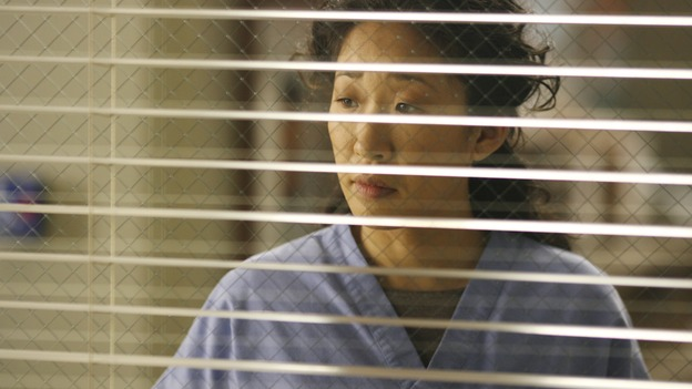 GREY'S ANATOMY - In the first hour of part two of the season finale of ABC's &quot;Grey's Anatomy&quot; -- &quot;Deterioration of the Fight or Flight Response&quot; -- Izzie and George attend to Denny as the pressure increases to find him a new heart, Cristina suddenly finds herself in charge of an ER, and Derek grapples with the realization that the life of a friend is in his hands. In the second hour, &quot;Losing My Religion,&quot; Richard goes into interrogation mode about a patient's condition, Callie confronts George about his feelings for her, and Meredith and Derek meet about Doc. Part two of the season finale of &quot;Grey's Anatomy&quot; airs MONDAY, MAY 15 (9:00-11:00 p.m., ET) on the ABC Television Network. (ABC/SCOTT GARFIELD)SANDRA OH