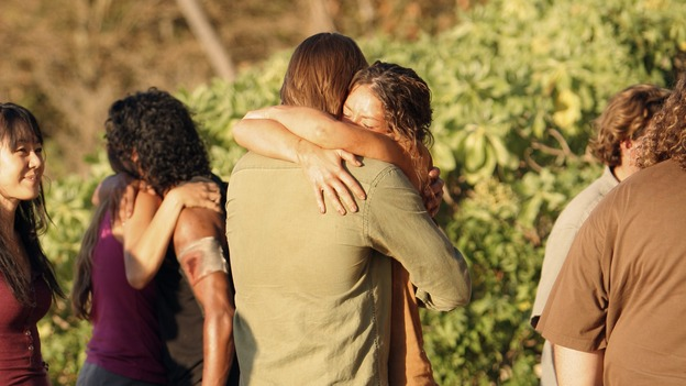 "LOST - ""One of Us"" - Jack's joyous reunion with his fellow survivors is cut short when they realize that accompanying him is one of ""The Others,"" and Claire is stricken by a mysterious, life-threatening illness, on ""Lost,"" WEDNESDAY, APRIL 11 (10:00-11:00 p.m., ET), on the ABC Television Network. (ABC/MARIO PEREZ)YUNJIN KIM, NAVEEN ANDREWS, JOSH HOLLOWAY, EVANGELINE LILLY"