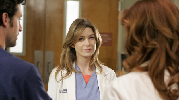 102468_6862 -- GREY'S ANATOMY - &quot;RAINDROPS KEEP FALLING ON MY HEAD&quot; (ABC/CRAIG SJODIN)PATRICK DEMPSEY, ELLEN POMPEO, KATE WALSH