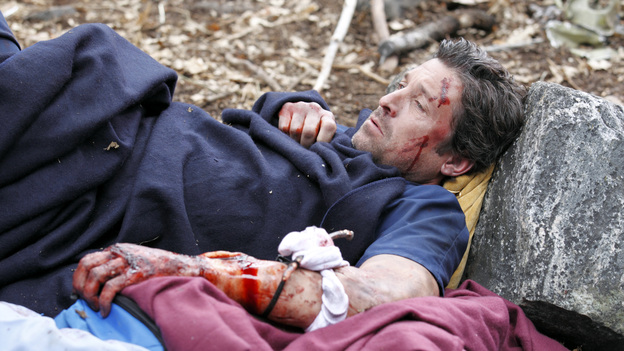 "GREY'S ANATOMY - ""Flight"" - Faced with a life threatening situation, the doctors must fight to stay alive while trying to save the lives of their peers; Bailey and Ben make a decision regarding their relationship; and Teddy is presented with a tempting offer. Meanwhile, Richard plans a special dinner for the residents, on the Season Finale of ""Grey's Anatomy,"" THURSDAY, MAY 17 (9:00-10:01 p.m., ET) on the ABC Television Network. (ABC/CRAIG SJODIN)PATRICK DEMPSEY"