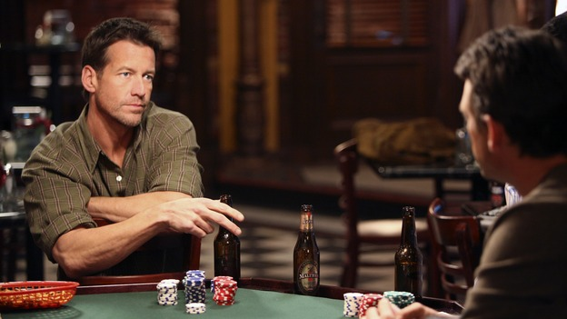 "DESPERATE HOUSEWIVES - ""My Husband, the Pig"" - Mike and Ian square off in poker, on ""Desperate Housewives,"" SUNDAY, MARCH 4 (9:00-10:01 p.m., ET) on the ABC Television Network.  (ABC/DANNY FELD) JAMES DENTON, DOUGRAY SCOTT"