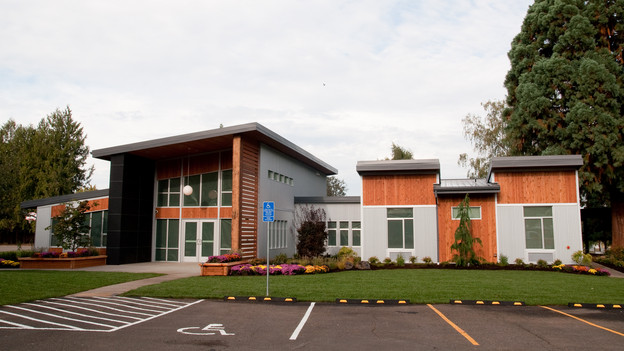 "EXTREME MAKEOVER HOME EDITION - ""Oregon School for the Deaf,"" - Exterior  Pictures, on ""Extreme Makeover Home Edition,"" Sunday, October 31st(8:00-9:00 p.m. ET/PT) on the ABC Television Network."