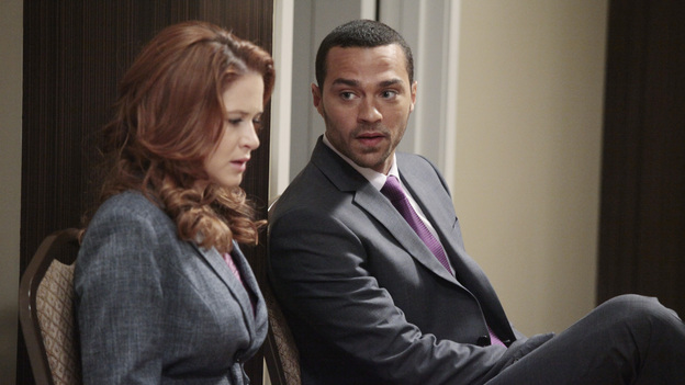 Virgin TerritoryThe romantic life of April Kepner hasn't been as exciting or sordid as the other members of the staff of Seattle Grace. Really, she's had 4 persons of interest. Derek Shepherd � In the beginning April developed a crush on McDreamy. Obviously this was doomed from the beginning since Derek was destined to be with Meredith. Alex Karev - Alex almost became her first  during season 7. She developed feelings for him and Alex pressured her for him to be her first. She felt uncomfortable and asked him to take it slow. This didn't exactly site well with Alex and he proceeded to blow up at her. Jackson wasn't too keen about what Alex did and made sure to teach Alex a lesson�with his fist. Dr. Robert Stark � You know what they say, you have to go through a lot of frogs to get to your prince. Unfortunately Dr. Stark was one of those frogs. He asked April out and she agreed thinking that he had a good side that not many people have seen. Everything went well, but April's coworkers started to make fun of her. They said things like she was going to sleep her way to the top. In the end April breaks Stark's heart by telling him that she just wanted to be friends. Jackson Avery � Here he is, the one who broke April in (if you know what I mean). During the trip to San Francisco to take their boards, Jackson and April ended up sleeping together after a raucous night at the hotel bar. They even hooked up in the men's room during one of their breaks in-between exams.