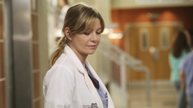 "GREY'S ANATOMY - ""Here Comes the Flood"" - Dr. Meredith Grey, on ""Grey's Anatomy,"" THURSDAY, OCTOBER 9 (9:00-10:01 p.m., ET) on the ABC Television Network. (ABC/DANNY FELD) ELLEN POMPEO"