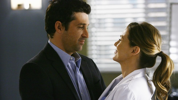 "GREY'S ANATOMY - ""Now or Never"" - Drs. Derek Shepherd and Meredith Grey profess their love, on ""Grey's Anatomy,"" THURSDAY, MAY 14 (9:00-11:00 p.m., ET) on the ABC Television Network. PATRICK DEMPSEY, ELLEN POMPEO"