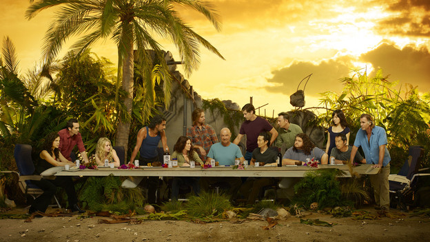 "LOST - ""Lost"" stars Zuleikha Robinson as Ilana, Nestor Carbonell as Richard Alpert, Emilie de Ravin as Claire, Naveen Andrews as Sayid, Evangeline Lilly as Kate, Josh Holloway as Sawyer, Terry O'Quinn as Locke, Matthew Fox as Jack, Daniel Dae Kim as Jin, Michael Emerson as Ben, Jorge Garcia as Hurley,  Yunjin Kim as Sun, Ken Leung as Miles and Jeff Fahey as Frank Lapidus. (ABC/BOB D'AMICO)"