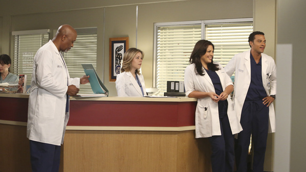 "GREY'S ANATOMY - ""Remember the Time"" - (ABC/DANNY FELD)JAMES PICKENS JR., TINA MAJORINO, SARA RAMIREZ, JESSE WILLIAMS"