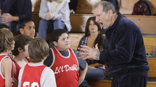"MODERN FAMILY - ""Benched"" - When Luke and Manny's hot-tempered basketball coach quits in the middle of a game, Jay and Phil both jockey to fill the position. Claire and Gloria each struggle with the realization that they might not be number one in their children's lives anymore, and Mitchell takes Cameron along to meet a prospective employer, but Cameron's big personality doesn't necessarily help to make a good impression, on ""Modern Family,"" WEDNESDAY, APRIL 14 (9:00-9:30 p.m., ET), on the ABC Television Network. (ABC/MICHAEL DESMOND)RICO RODRIGUEZ, SOFIA VERGARA, ED O'NEILL"