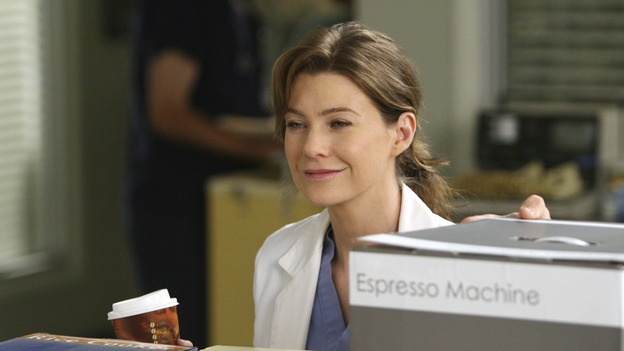 "GREY'S ANATOMY - ""Love/Addiction"" - The residents and interns treat the victims of a massive explosion at an apartment building, while Alex investigates the cause of the accident, Mama Burke returns to collect her son's things just as Cristina trades her wedding presents in exchange for surgeries, Lexie tries to have a heart-to-heart with an unwilling Meredith, and while Callie is overwhelmed with her duties as Chief Resident, Bailey searches for an outlet for her pent-up leadership skills, on ""Grey's Anatomy,"" THURSDAY, OCTOBER 4 (9:00-10:01 p.m., ET) on the ABC Television Network. (ABC/MICHAEL DESMOND)ELLEN POMPEO"