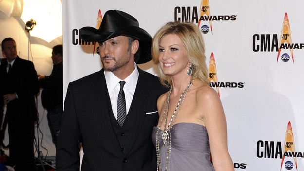 "THE 43rd ANNUAL CMA AWARDS - RED CARPET ARRIVALS - ""The 43rd Annual CMA Awards"" will be broadcast live from the Sommet Center in Nashville, WEDNESDAY, NOVEMBER 11 (8:00-11:00 p.m., ET) on the ABC Television Network. (ABC/DONNA SVENNEVIK)TIM MCGRAW, FAITH HILL"