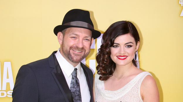 "THE 46TH ANNUAL CMA AWARDS - RED CARPET ARRIVALS - ""The 46th Annual CMA Awards"" airs live THURSDAY, NOVEMBER 1 (8:00-11:00 p.m., ET) on ABC live from the Bridgestone Arena in Nashville, Tennessee. (ABC/SARA KAUSS)KRISTIAN BUSH, LUCY HALE"
