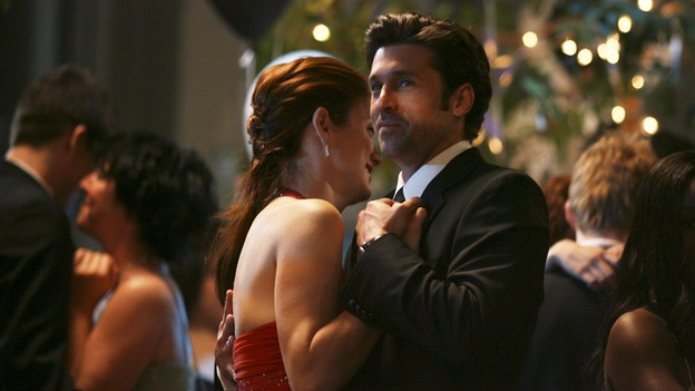GREY'S ANATOMY - In the first hour of part two of the season finale of ABC's &quot;Grey's Anatomy&quot; -- &quot;Deterioration of the Fight or Flight Response&quot; -- Izzie and George attend to Denny as the pressure increases to find him a new heart, Cristina suddenly finds herself in charge of an ER, and Derek grapples with the realization that the life of a friend is in his hands. In the second hour, &quot;Losing My Religion,&quot; Richard goes into interrogation mode about a patient's condition, Callie confronts George about his feelings for her, and Meredith and Derek meet about Doc. Part two of the season finale of &quot;Grey's Anatomy&quot; airs MONDAY, MAY 15 (9:00-11:00 p.m., ET) on the ABC Television Network. (ABC/SCOTT GARFIELD)KATE WALSH, PATRICK DEMPSEY