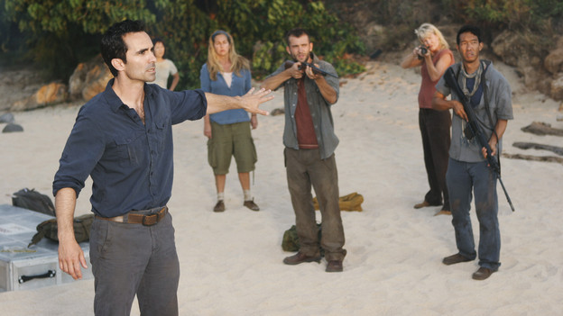 "LOST - ""LA X"" - ""Lost"" returns for its final season of action-packed mystery and adventure -- that will continue to bring out the very best and the very worst in the people who are lost -- on the season premiere of ""Lost,"" TUESDAY, FEBRUARY 2 (9:00-11:00 p.m., ET) on the ABC Television Network. On the season premiere episode, ""LA X"" Parts 1 & 2, the aftermath from Juliet's detonation of the hydrogen bomb is revealed. (ABC/MARIO PEREZ)NESTOR CARBONELL"