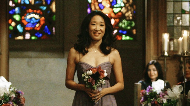 "GREY'S ANATOMY - ""What a Difference a Day Makes"" - Cristina walks down the aisle, ready to perform her duties as Izzie's Maid of Honor, on ""Grey's Anatomy,"" THURSDAY, MAY 7 (9:00-10:02 p.m., ET) on the ABC Television Network. SANDRA OH"