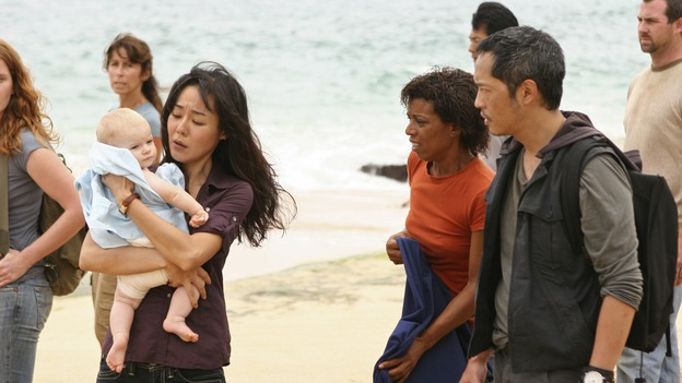 "LOST - ""There's No Place Like Home,"" Part 1 - The face-off between the survivors and the freighter people begins, on ""Lost,"" THURSDAY, MAY 15 (10:02-11:00 p.m., ET) on the ABC Television Network.  (ABC/MARIO PEREZ)YUNJIN KIM, KEN LEUNG"