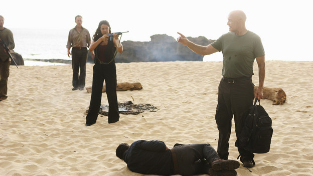 LOST - &quot;LA X&quot; - &quot;Lost&quot; returns for its final season of action-packed mystery and adventure -- that will continue to bring out the very best and the very worst in the people who are lost -- on the season premiere of &quot;Lost,&quot; TUESDAY, FEBRUARY 2 (9:00-11:00 p.m., ET) on the ABC Television Network. On the season premiere episode, &quot;LA X&quot; Parts 1 &amp; 2, the aftermath from Juliet's detonation of the hydrogen bomb is revealed. (ABC/MARIO PEREZ)MICHAEL EMERSON, ZULEIKHA ROBINSON, TERRY O'QUINN