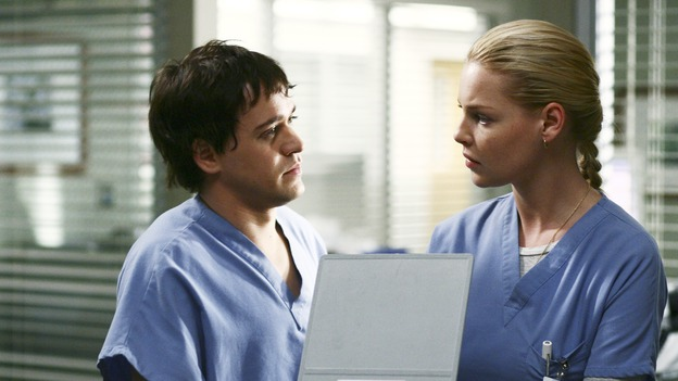 GREY'S ANATOMY - &quot;Superstition&quot; - When a series of deaths occur at Seattle Grace, the uncanny events bring out the doctors' superstitious sides and make Izzie nervous about Denny's surgery. Meanwhile, Derek and Addison discuss making a more permanent living arrangement, and Richard treats a very special, old friend, on &quot;Grey's Anatomy,&quot; SUNDAY, MARCH 19 (10:00-11:00 p.m., ET) on the ABC Television Network. (ABC/SCOTT GARFIELD)T.R. KNIGHT, KATHERINE HEIGL