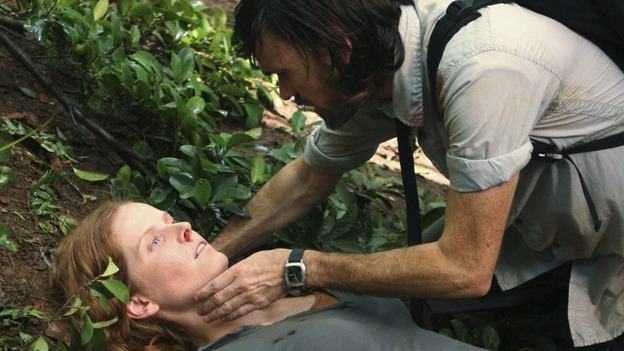"LOST -  ""This Place is Death"" - Charlotte dies in Faraday's arms as she succumbs to the affects of the island's time flashes, on ""Lost,"" WEDNESDAY, FEBRUARY 11 (9:00-10:02 p.m., ET) on the ABC Television Network.  (ABC/MARIO PEREZ) REBECCA MADER, JEREMY DAVIES"