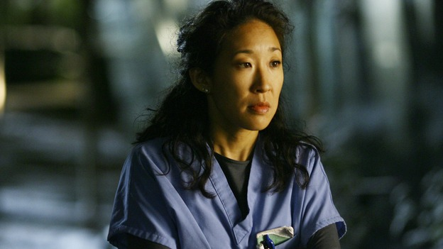 GREY'S ANATOMY - &quot;Dream a Little Dream of Me&quot; - Cristina has had about enough of Meredith talking about Derek moving in, on &quot;Grey's Anatomy,&quot; THURSDAY, SEPTEMBER 25 (9:00-11:00 p.m., ET) on the ABC Television Network. (ABC/SCOTT GARFIELD) SANDRA OH