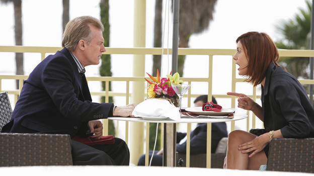PRIVATE PRACTICE - &quot;Sins of the Father&quot; -- Addison is shaken by the unwelcome arrival of her father to Los Angeles, Cooper is arrested when he refuses to cooperate in a case involving a longtime patient, and Pete fights to keep a terminally ill patient alive long enough for him to meet his new daughter, on &quot;Private Practice,&quot; THURSDAY, NOVEMBER 19 (10:01-11:00 p.m., ET) on the ABC Television Network. (ABC/ADAM TAYLOR)STEPHEN COLLINS, KATE WALSH