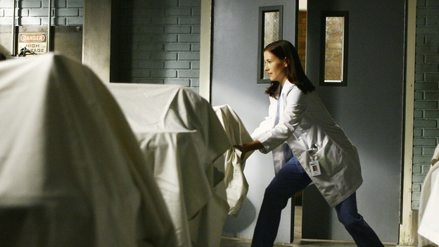 "GREY'S ANATOMY - ""Rise Up"" - Lexie lines up a bunch of cadavers for herself and the other Interns to practice on, on ""Grey's Anatomy,"" THURSDAY, NOVEMBER 6 (9:00-10:01 p.m., ET) on the ABC Television Network. (ABC/SCOTT GARFIELD) CHYLER LEIGH"