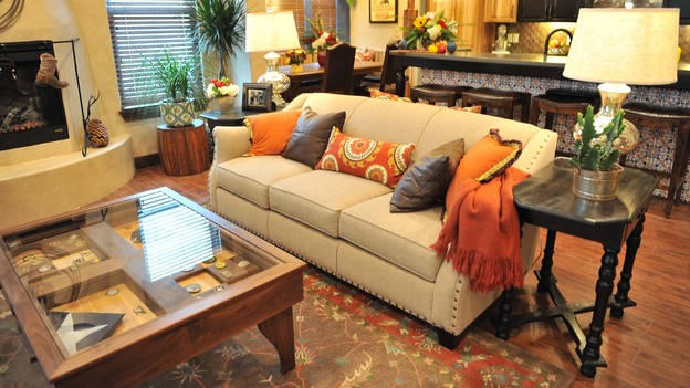 "EXTREME MAKEOVER HOME EDITION - Living Room Photo, ""Harris Family,"" on ""Extreme Makeover Home Edition,"" Monday, December 10th (8:00-10:00 p.m. ET/PT) on the ABC Television Network."