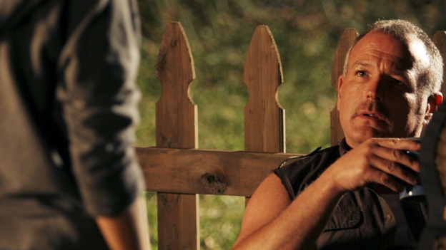"LOST - ""The Man from Tallahassee"" - Ben tries to persuade a determined Locke to call off his destructive plan by offering him some of the secrets of the island, and Kate's reunion with Jack does not go off as planned when she discovers that he has made a deal with ""The Others,"" on ""Lost,"" WEDNESDAY, MARCH 21 (10:00-11:00 p.m., ET), on the ABC Television Network. (ABC/MARIO PEREZ)BRIAN GOODMAN"