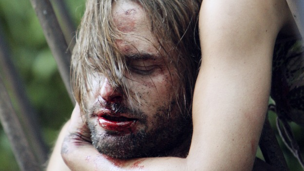 "LOST - ""Every Man for Himself"" - Sawyer discovers just how far his captors will go to thwart any plans of escape he and Kate might have, and Jack is called upon to scrub up in order to save the life of one of ""The Others."" Meanwhile, Desmond's behavior begins to perplex the survivors when he starts construction on an unknown device, on ""Lost,"" WEDNESDAY, OCTOBER 25 (9:00-10:01 p.m., ET), on the ABC Television Network. (ABC/MARIO PEREZ)JOSH HOLLOWAY, EVANGELINE LILLY"