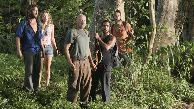 "LOST - ""The Cost of Living"" - A delirious Eko wrestles with demons from his past, while Locke and some of the other castaways head back to The Pearl -- one of the Dharma Initiative's island stations -- hoping to find a computer that they can use to locate Jack, Kate and Sawyer. Meanwhile, Jack doesn't know whom to trust when two of ""The Others"" seem at odds with one another, on ""Lost,"" WEDNESDAY, NOVEMBER 1 (9:00-10:01 p.m., ET), on the ABC Television Network. (ABC/MARIO PEREZ)HENRY IAN CUSICK, KIELE SANCHEZ, TERRY O'QUINN, NAVEEN ANDREWS, RODRIGO SANTORO"